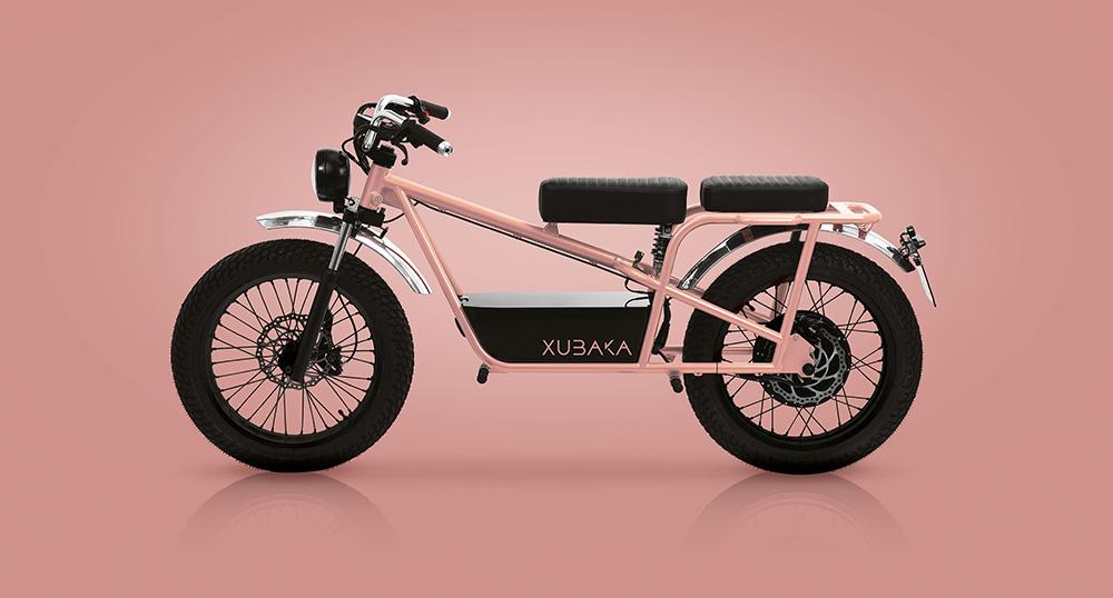 Moto électrique Xubaka rose